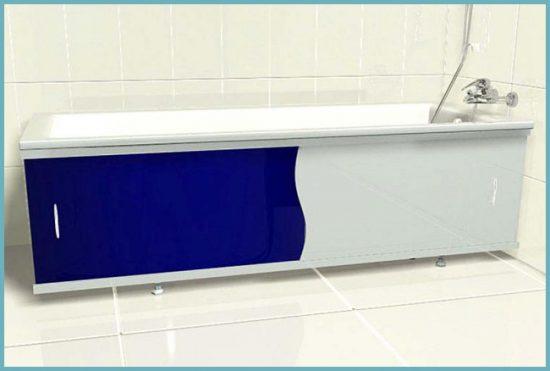 экран под ванну с раздвижными дверцами