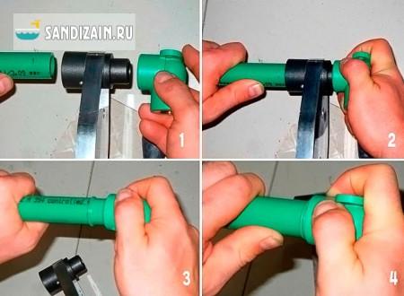 Как  правильно паять водопроводные полипропиленовые трубы
