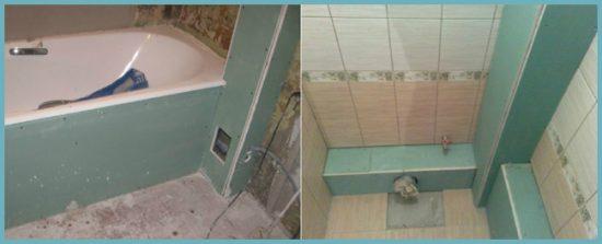 отделка короба в ванной