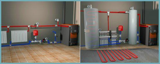 организация системы отопления дома