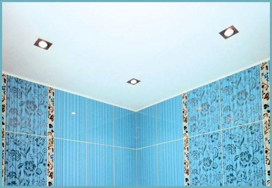 покраска потолка в ванной своими руками