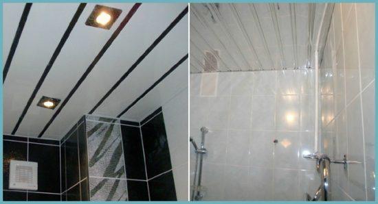 как выглядит алюминиевый потолок в ванной