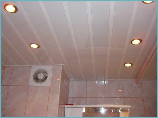 как сделать пластиковый потолок в ванной