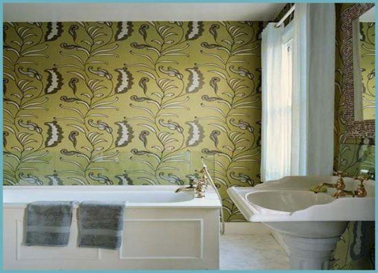 преимущества оклеивания стен ванной комнаты пленкой