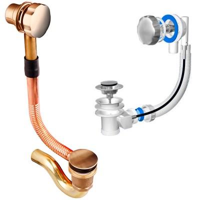 Какой выбрать, как собрать и установить сифон для ванны с выпуском и переливом