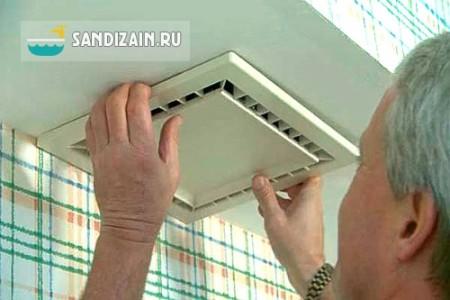 Циркуляцию воздуха в ванной обеспечит простой вентилятор