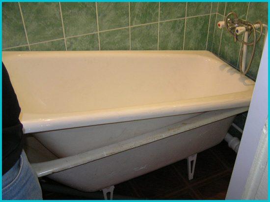 Восстановление ванны с помощью жидкого акрила