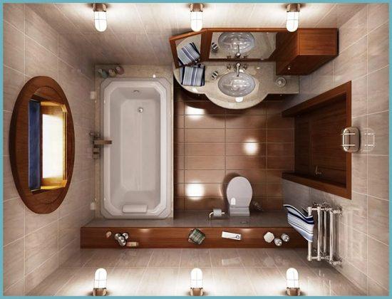 создать интерьер ванной небольшого разера