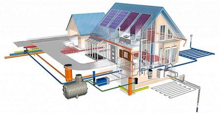 схема автономной канализации частного дома