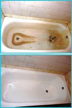 """Реставрация ванны """"до и после"""""""