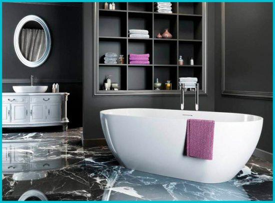 Дизайн черной ванной комнаты