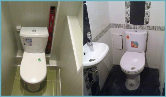 декорирование короба в туалете пластиком или плиткой