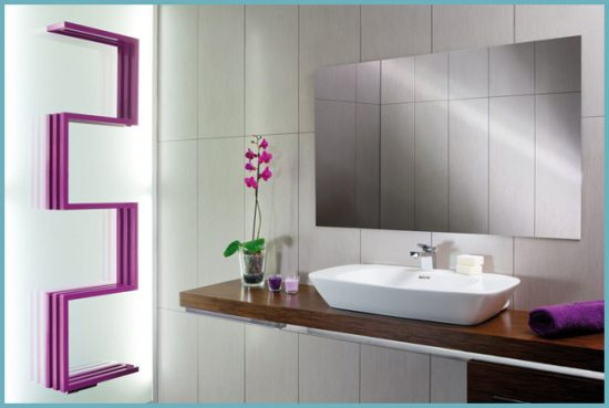 полотенцесушитель в дизайне ванной комнаты
