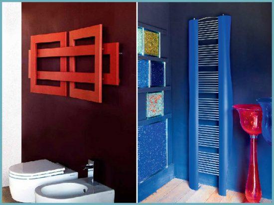 выбрать электрический полотенцесушитель по цвету