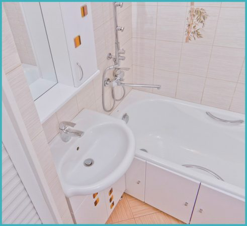 отделка стен ванной комнаты 4 кв м