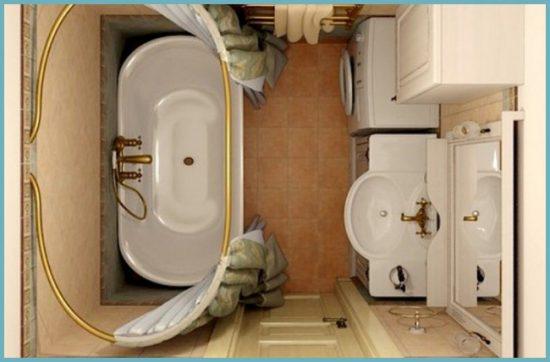 какой дизайн подходит для ванной 5 кв м
