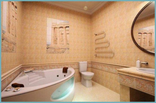 какую плитку выбрать для ванной среднего размера