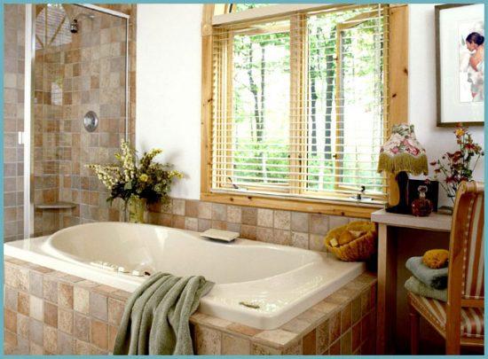 окно в ванной как элемент дизайна