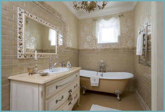 окно между ванной и кухней как декорировать