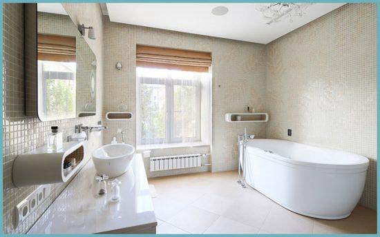 отделка для окна в ванной