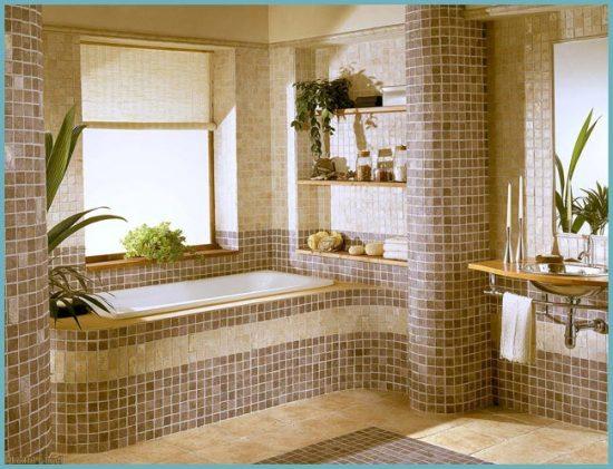 шторы для окна в ванной