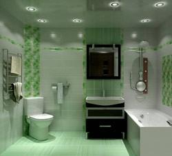 Интерьер ванной, совмещенной за счет сноса перегородки с туалетом