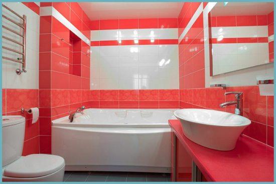 цветовые акценты в ванной комнате