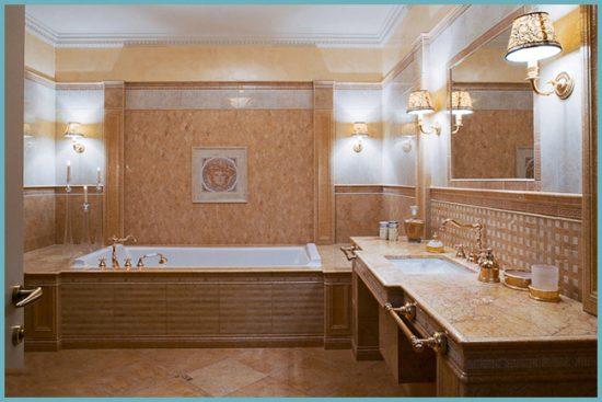 как оформить ванную комнату в классическом стиле