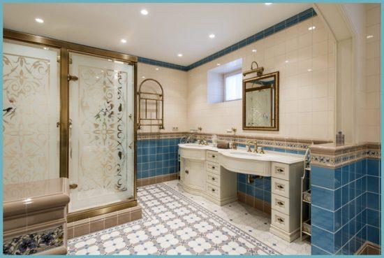 как выбрать душевую кабину для классического интерьера ванной