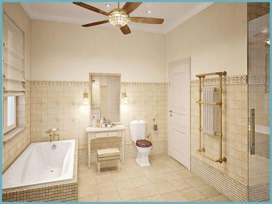 отделка потолка ванной в стиле прованс фото