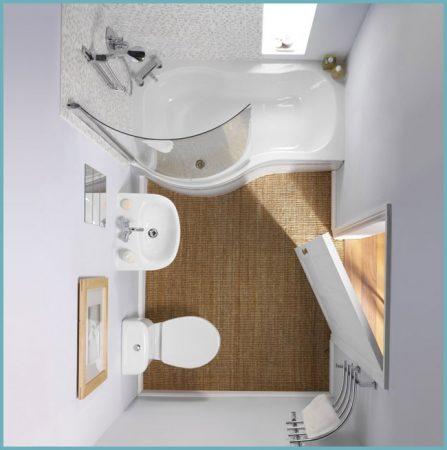 как распланировать место в маленькой ванной