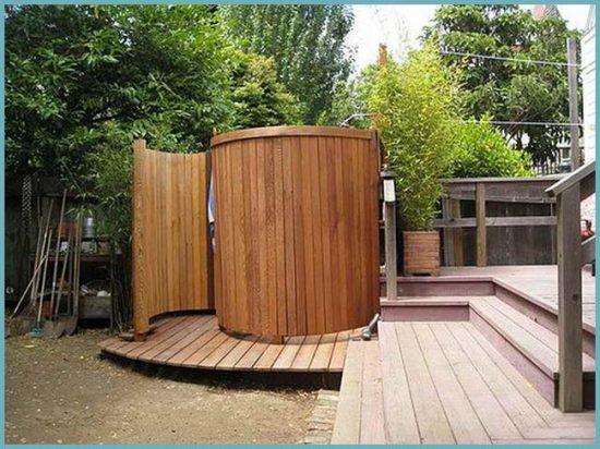 из чего построить летний душ