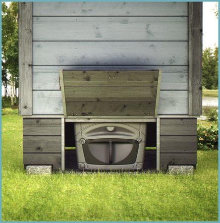 оборудование туалета без выгребной ямы