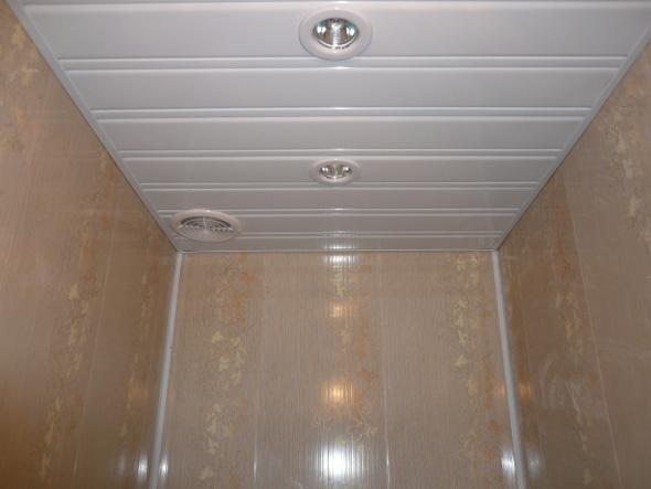как сделать пластиковый потолок