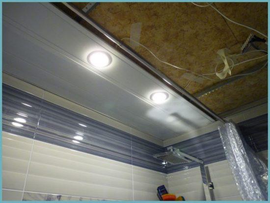 как монтировать подвесной пластиковый потолок