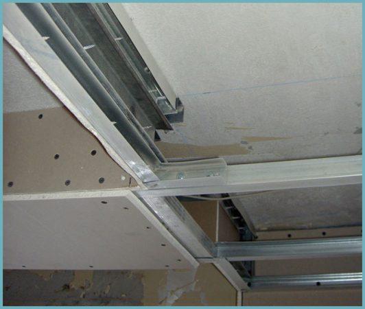 как общить потолок гипсокартоном