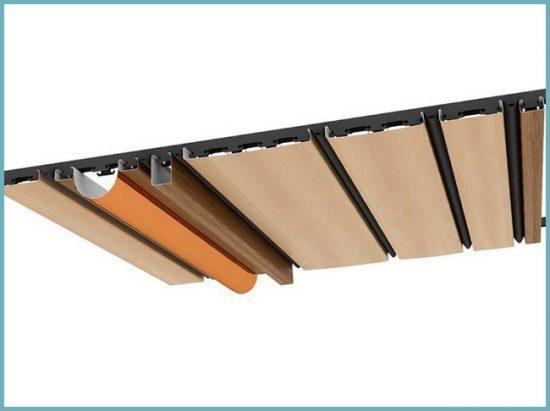 как устроен реечный подвесной потолок