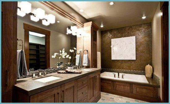 точечная подсветка в ванной