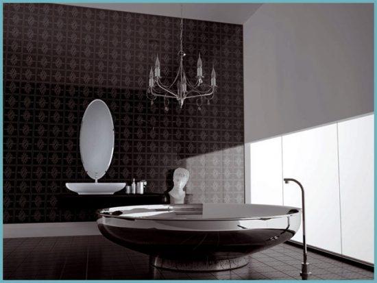 орнамент на плитке в ванной