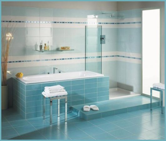 плитка в небольшой ванной