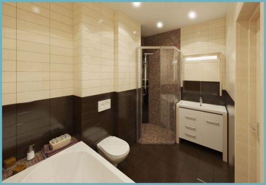 плитка двух цветов в ванной