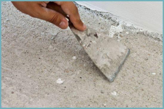 подготовка поверхности пола под плитку