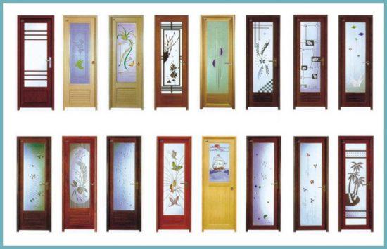 дизайн дверей для ванной