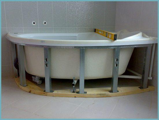 экран для ванны нестандартной формы