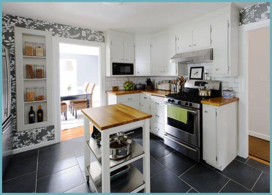 плитка для пола в кухне