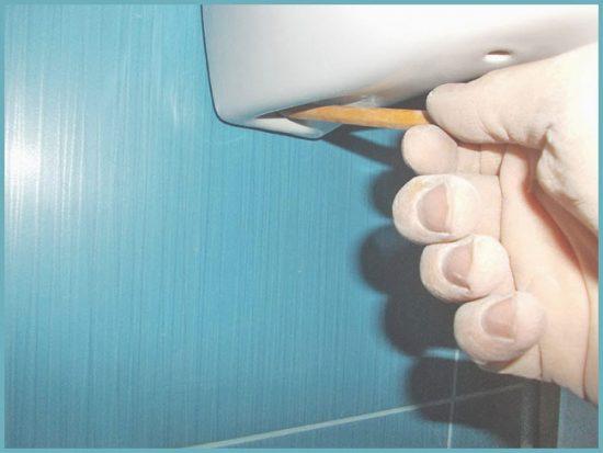 как прикрепить раковину своими руками