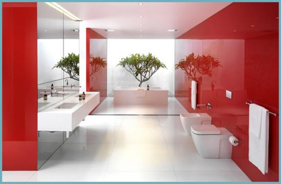 преимущества натяжного потолка в ванной