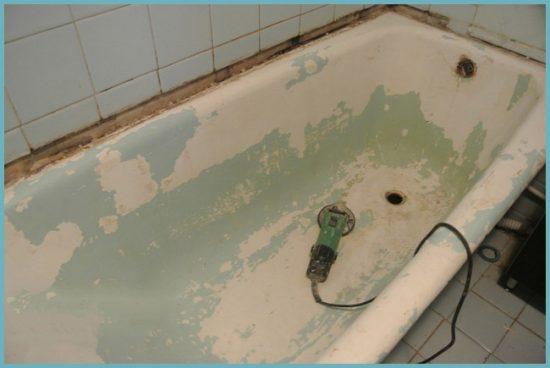 подготовка ванны к нанесению акрила