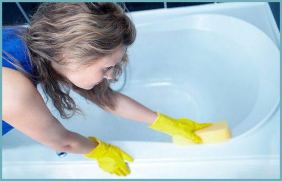 очищение ванны