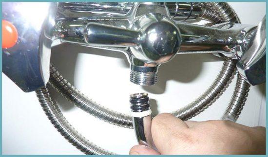 как разобрать смеситель с душем